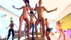 Sex party online in multiplayer 3DXChat game